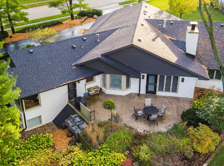 Aerial home view