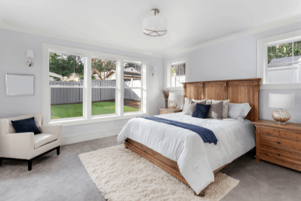 Beautiful Master Bedroom Remodel With Large Windows