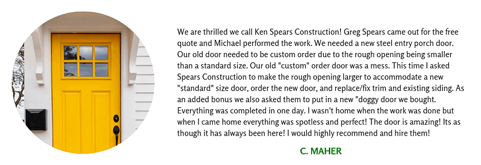Client Testimonial for Exterior Remodel
