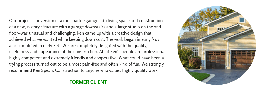 Client Testimonial for a Two Story Addition