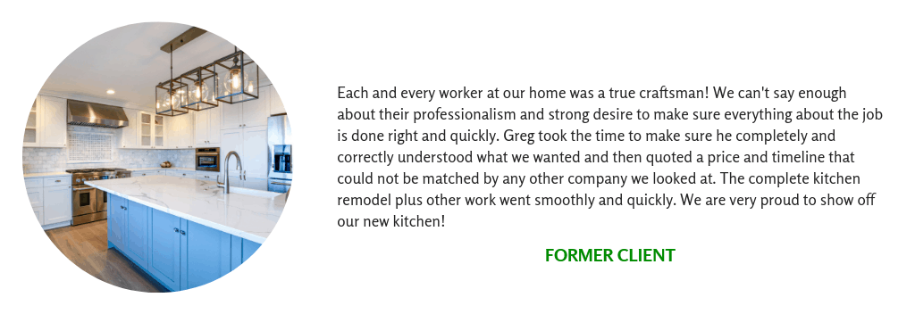 Client Testimonial for an upscale kitchen remodel