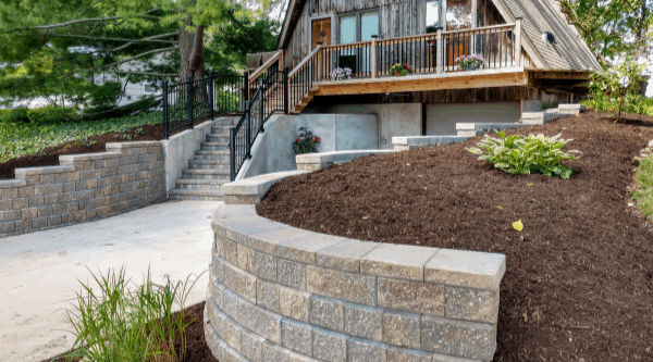 Outdoor Home Remodeling With Retaining Wall