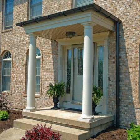 Front door porch cover