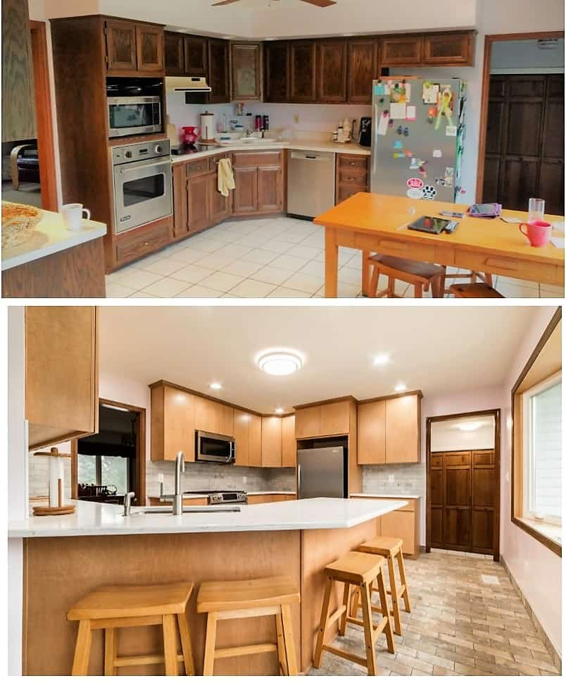 before after sycamore kitchen remodel
