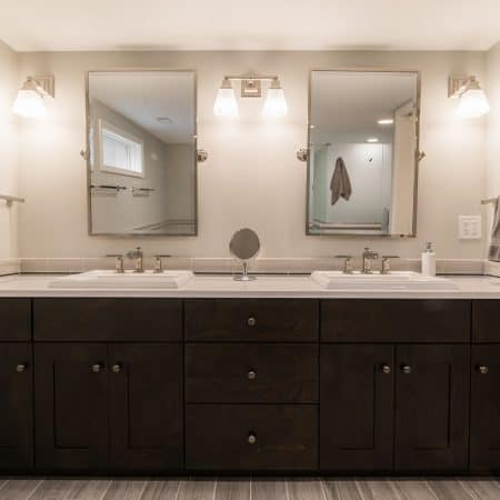 geneva master bathroom mirrors and custom sink